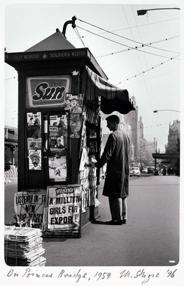 On Princes Bridge 1959. Mark Strizic (Melbourne Australia)