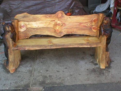 Chain saw carving bench art wood pinterest