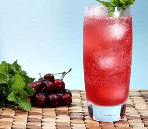 delicious bing cherry mojito! fruit cocktails, cherry, recipes, summer ...