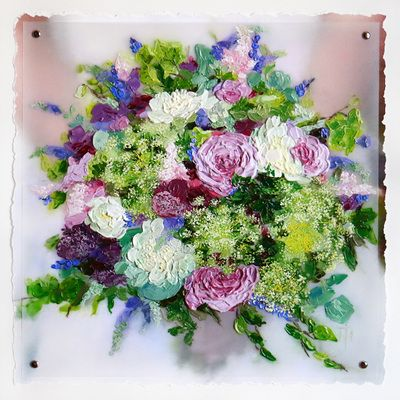 Wedding or Anniversary Gift - custom painting of bridal bouquet by Terri Heinrichs