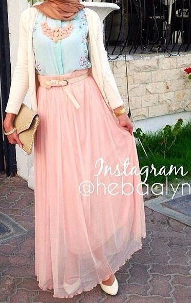 Hijab Summer Colors. Love it! #hijabi #style #fashion