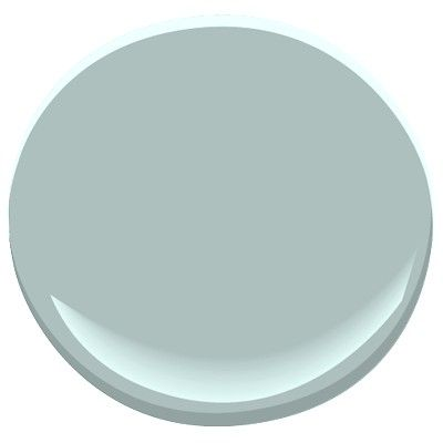 Benjamin Moore Wedgewood Gray: a grayed robin's egg vibe, gives a spa like feeling in a bath, goes nicely with Gentle Cream