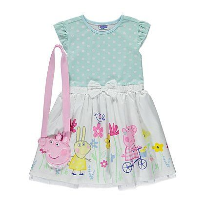Peppa Pig Dress and Bag Set | Kids | George at ASDA