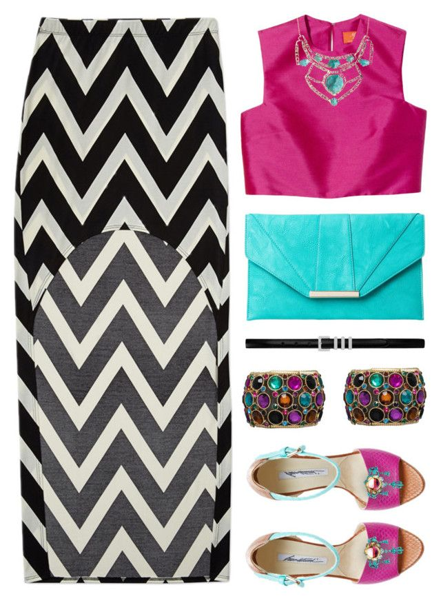 """Bollywood"" by kearalachelle ❤ liked on Polyvore featuring Forever 21, Brian Atwood, Alexis Bittar, Yves Saint Laurent and Fantasy Jewelry Box"