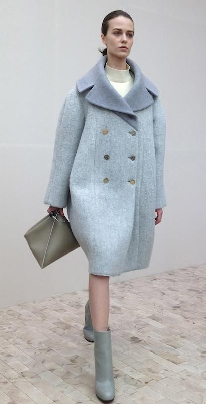 Celine 2013 F/W. Oversize coats and turtle-neck sweater are perfect for each other.