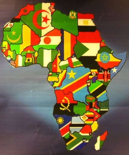 African flags - would love a framed print of this :-)