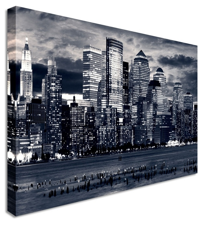 Blue london wharf by city art canvas printers canvas art cheap prints by www