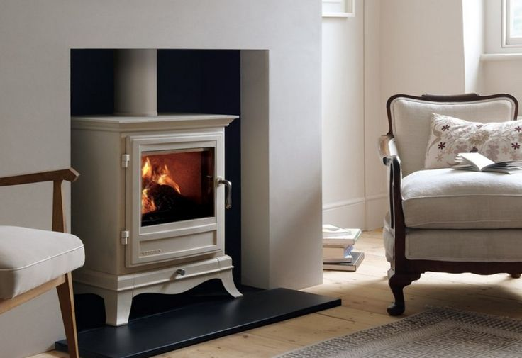 Fireplace Traditional Freestanding Fireplace: Cream Traditional Vintage Free Standing Fireplace Wood Burning Stove Installation