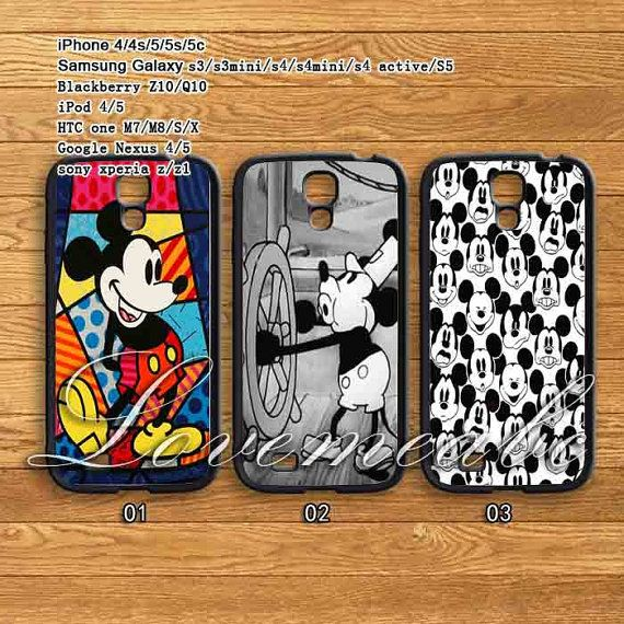 Disney Mickey Mouse, iPhone 4/4S/ 5/5S/5C, Samsung Galaxy S3/S4,Blackberry Z10/Q10,ipod 4/5case,ipod,htc one M7/S/X ,Google Nexus 4 /5 case on Etsy, $14.89