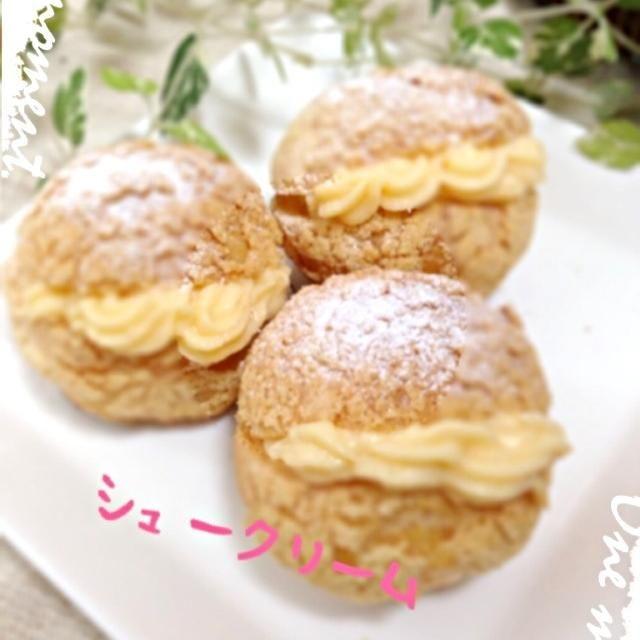 クリームの挟み方きたない(。ω。;) - 38件のもぐもぐ - 父の日クッキーシュークリーム by MayumiCafe