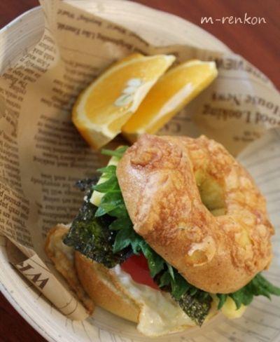 「がっつり朝食ベーグルサンド」のレシピ by m-renkonさん | 料理レシピブログサイト タベラッテ