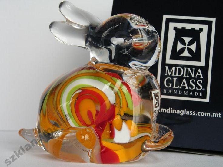 Zajączek figurka szklana Mdina Glass Malta