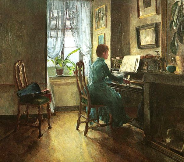 Harriet Backer (1845-1932), noruega.: Home, Artists Painting, Painting Interiors, Artharriet Backers, Artinterior Scene, Backers 1887, Backers 18451932, Piano Piano, Backers 1845 1932