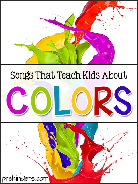 songs that teach kids about colors - Preschool Books About Colors