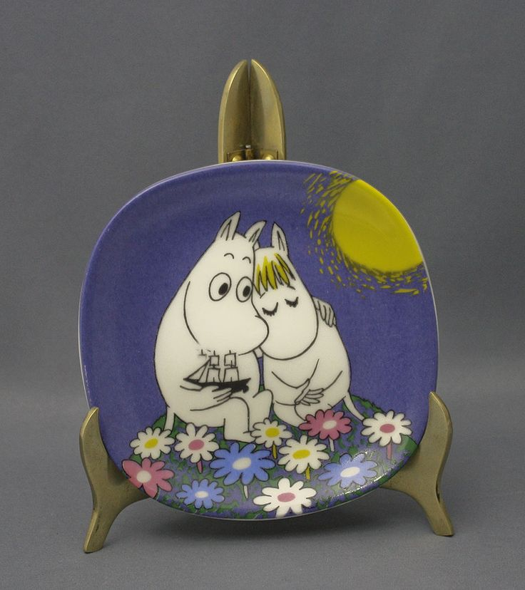 Arabia wall plate, Moomin, Moonshine. Muumi - Shopping Place for Friends of Old Antique Dishware - Dishwareheaven.com - Products