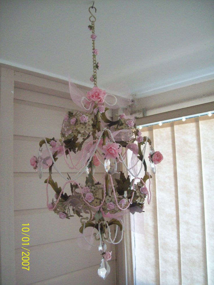 Altered shabby chic lighting by Corinea Neil