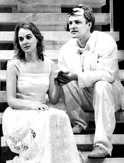 1986 - Photo shows Sean Bean as Romeo and Niamh Cusack as Juliet in the RSC's production. Joe Cocks Studio Collection © Shakespeare Birthplace Trust