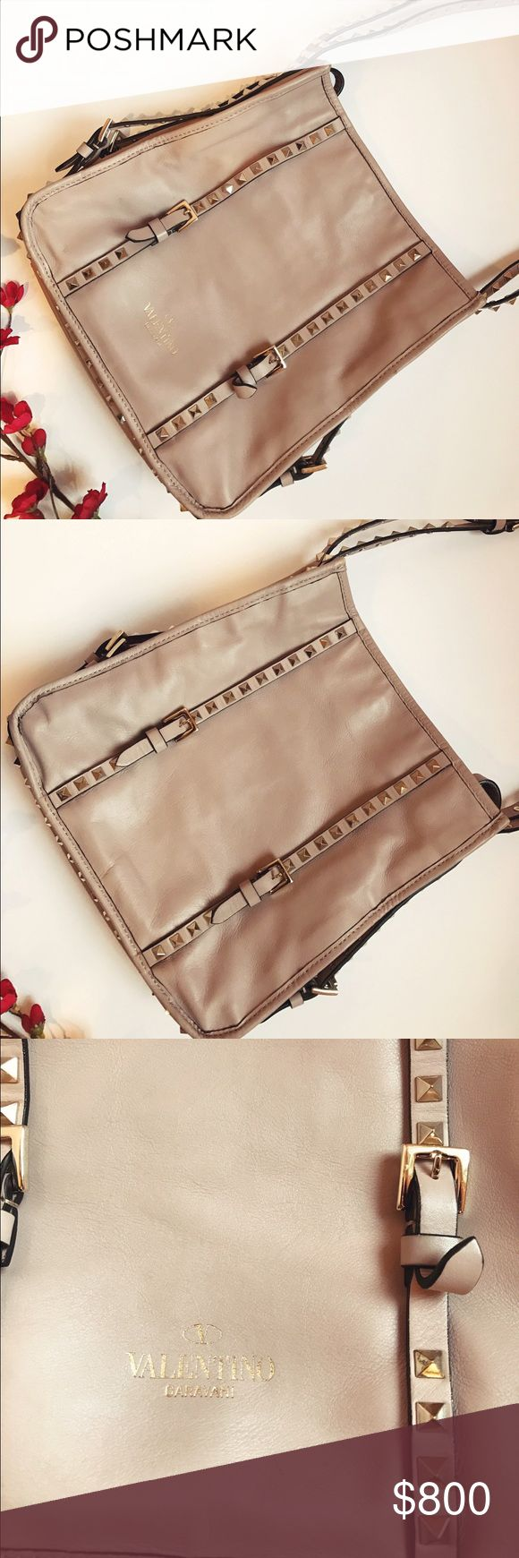 """Valentino Rockstud Bag - Authentic Valentino  - Rockstud Bag  - Excellent Condition  - Length 11"""" by 10 1/2""""  - Width 2 1/2""""  - Straps from bag 14""""  - Color: light purple/pink Valentino Garavani Bags Shoulder Bags"""