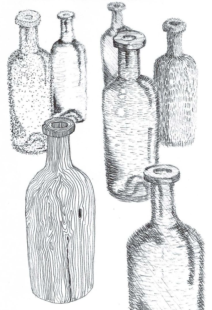 Creating texture with different types of cross hatching/stippling using the same object.  like this as an assignment