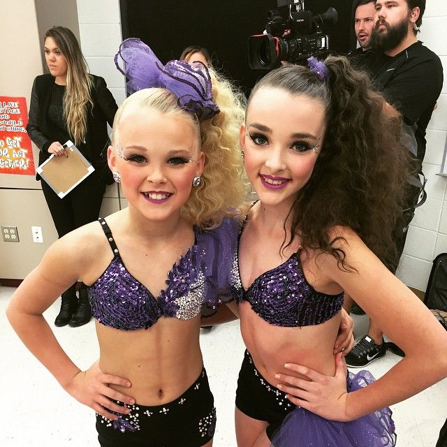 Two if the Dance Moms dancers, Jojo and Kendall!