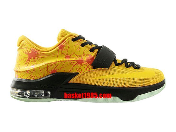 Chaussures Basket Nike Kd 7/VII Pas Cher Pour Homme Jaune Noir 653996-ID9