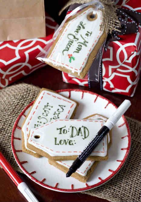 Use an edible pen to make your own edible gift tags.  What a great idea!
