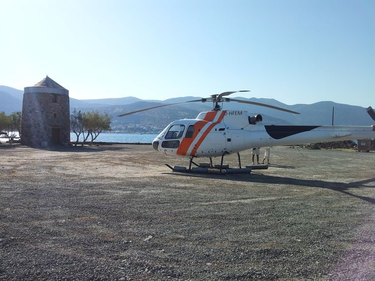 Watch all over the #Crete from the #Sky! #Helicopter #Crete #EloundaGulf