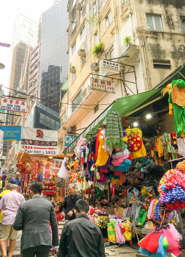 Pottinger Street in Central Hong Kong is a great place to shop for costumes.