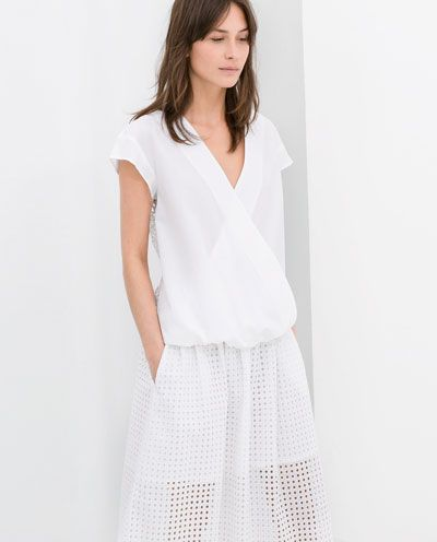 POPLIN COMBINED CROSSOVER TOP