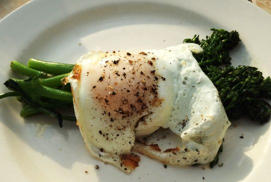 Broccolini with egg at Humble Pie, Raleigh- NC Triangle Dining