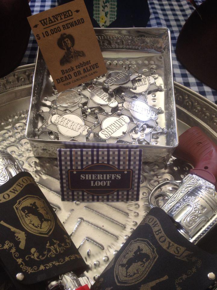 Sheriff badges - goody bag