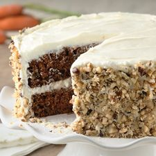 Carrot cake-had this at a friends today and it was the most delicious, moist carrot cake I have ever had!