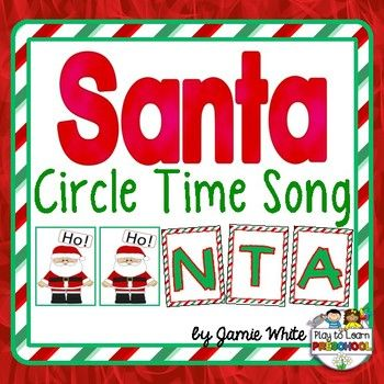 Here's is a fun song for young learners to the tune of BINGO.  The download includes 3 versions of the song, the full-color half-page letter signs, and Santa signs.This song is just 1 of the terrific Circle Time lessons included in this  Santa - Christmas Centers and Circle Time Unit.You can see how I use this during circle time with my class HERE.Please leave a rating!