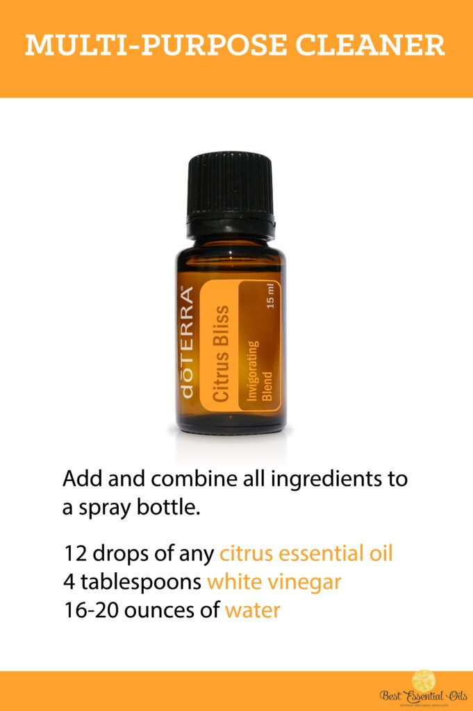 doTERRA Essential Oil DIY Multi-Purpose Cleaner Recipe
