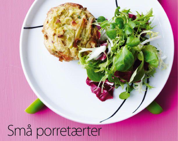 Porre kan erstattes af andre grøntsager. Få opskriften på små porretærter her