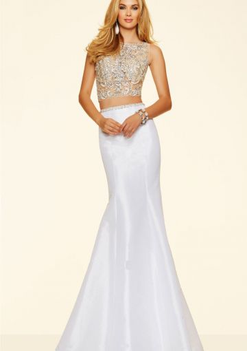 Cheap and Australia 2016 White Mermaid Scoop Neckline Beaded Sequins Satin Floor Length Evening Dress/ Prom Dresses 98113 from Dresses4Australia.com.au