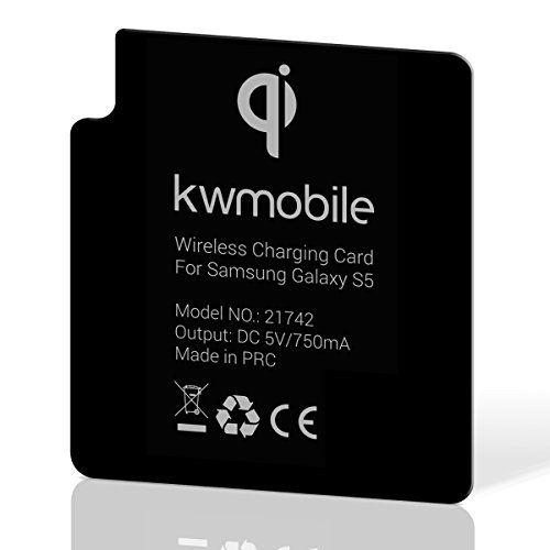 kwmobile Receptor de carga inalámbrico para Samsung Galaxy S5, receptor habilitador delgado para Qi para Galaxy S5 para carga inalámbrica - http://www.tiendasmoviles.net/2017/11/kwmobile-receptor-de-carga-inalambrico-para-samsung-galaxy-s5-receptor-habilitador-delgado-para-qi-para-galaxy-s5-para-carga-inalambrica/