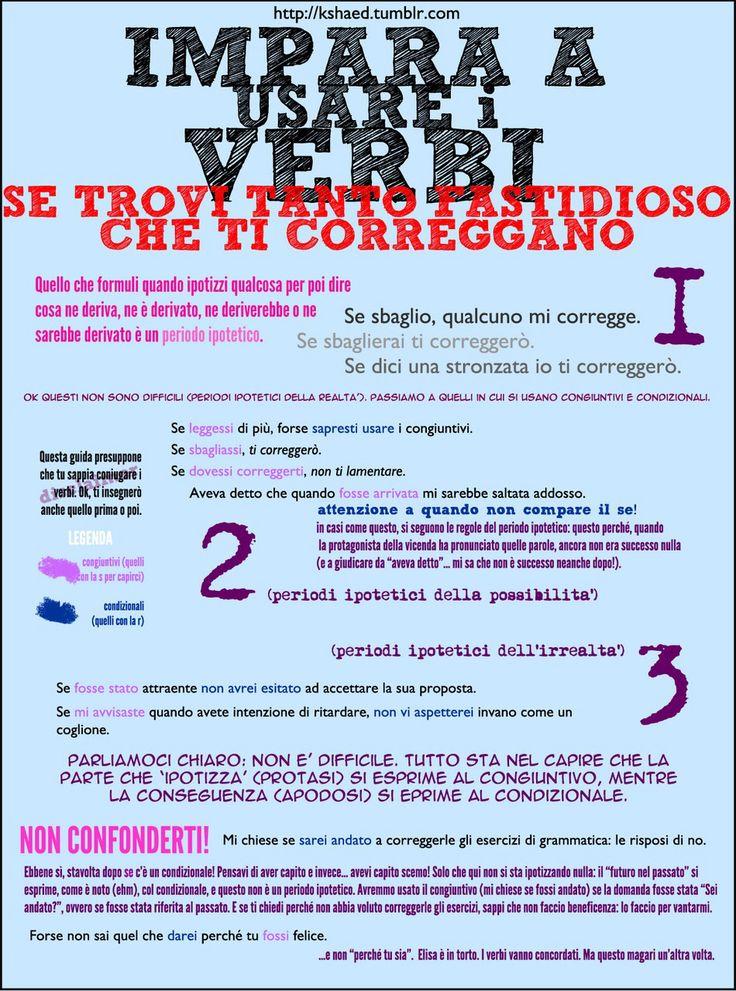 I verbi congiuntivi e condizionali, questi sconosciuti :)