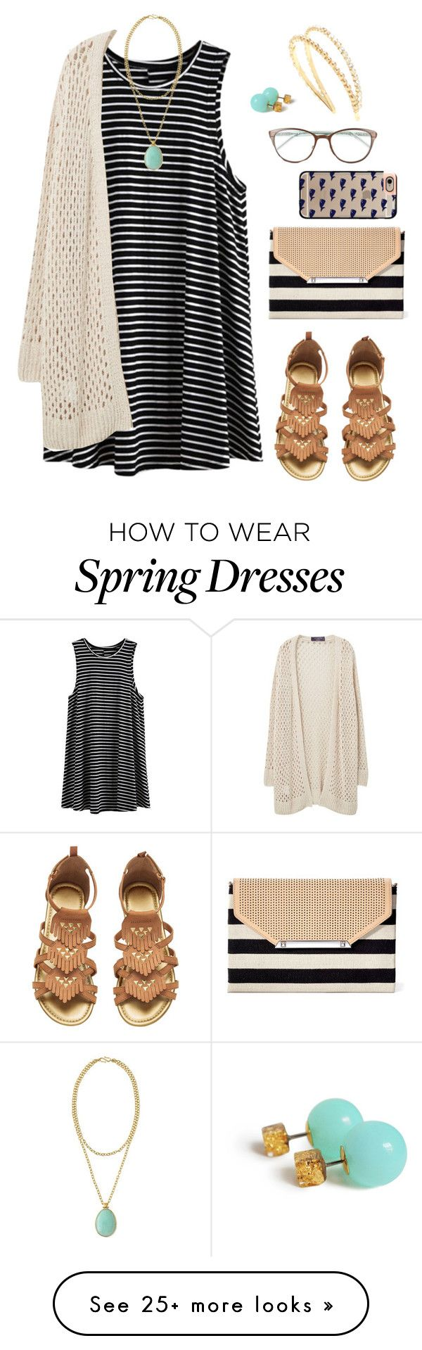 """Easy in spring"" by jrowe1969 on Polyvore featuring Violeta by Mango, Stella & Dot, Casetify, Miu Miu and Kate Spade"