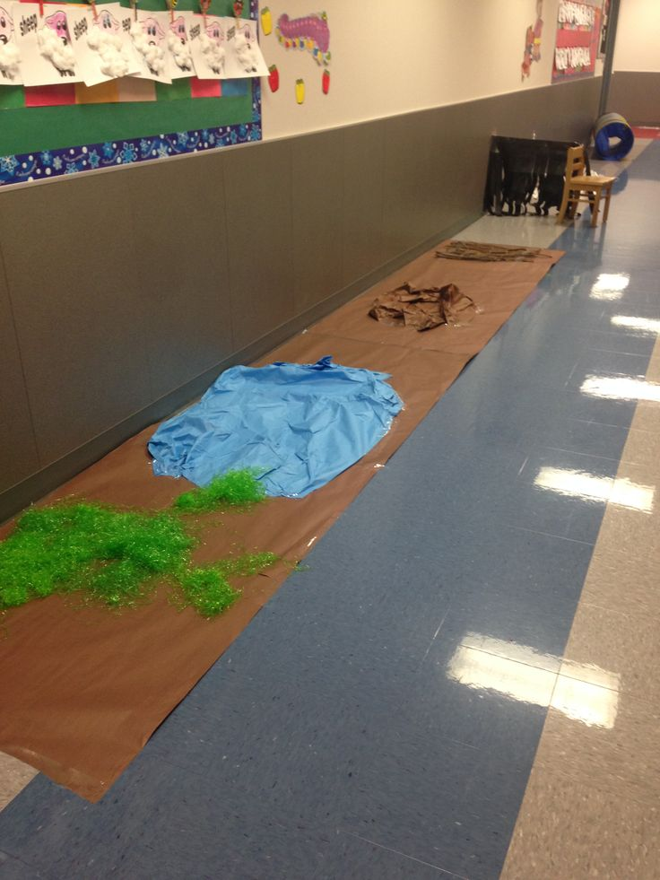 Going on a bear hunt story retelling obstacle course. Love this idea.