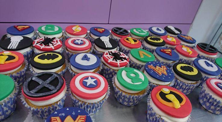 Marvel Heroes cupcakes