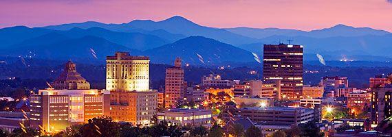 Asheville North Carolina at Dusk....beautiful!