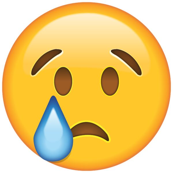 When the tears start to fall, drown your sorrows with the help of this tearful emoji who knows just how you feel.