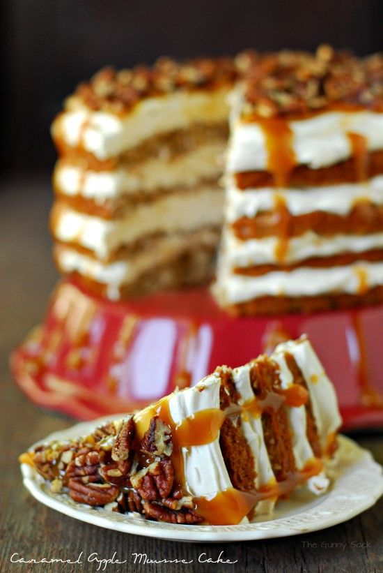 I think Susan should make me this! Caramel Apple Mousse Cake