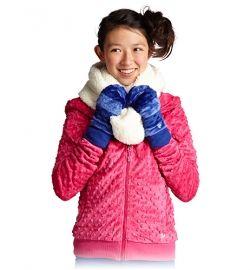 minky bubble hoodie in bella