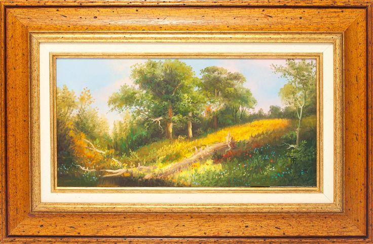Festő: Temesvári Ferenc Címe: Nyári tájkép Méret:20×40,-olaj  Ára:74 000,-Ft www.lisaelinor.hu