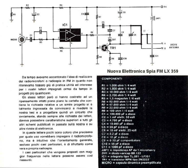 Spy Bug FM Transmitter Spie a transistor by Roberto Chirio