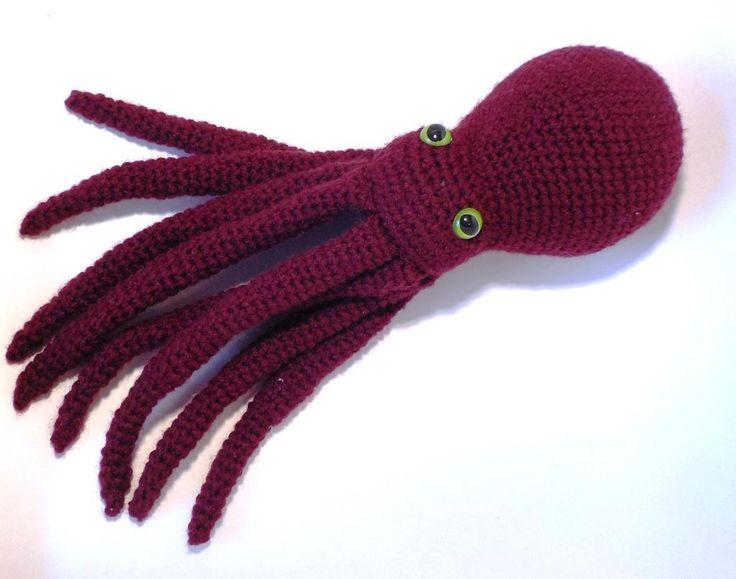 Octopus Amigurumi Plush : The 75 best images about amigurumi jellyfish and octopus ...