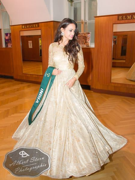 Miss India   posing during the evening gown parade as part of the activities of Miss Earth 2015 #Coverage #MissEarth2015 #BeautyPageant #Austria #ZarDeMisses #BeautiesForACause