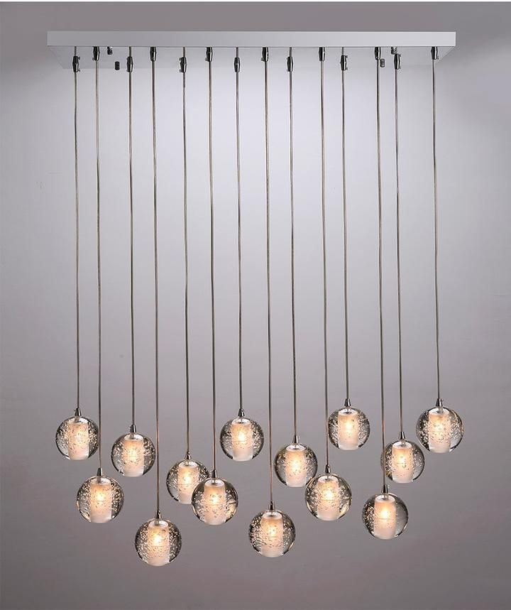 Crystal Bubbles Ball Chandelier Modern Hanging Glass Pendant